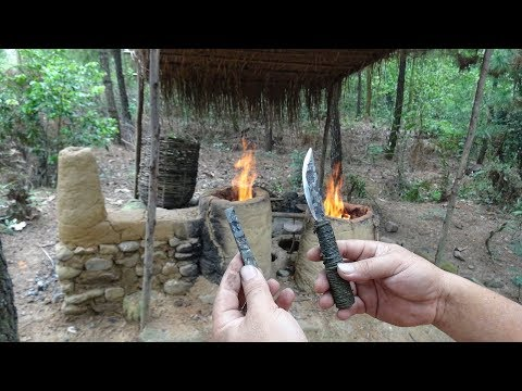 Primitive Life: Make knife from iron!