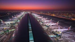 Dubai Airport Baggage Handling Inner Workings in 4k -  Dubai Flow Motion: Extended