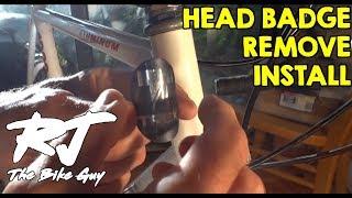 How To Remove/Install Bike Head Badge