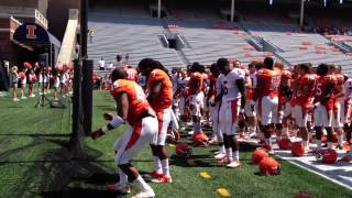"Marching Illini Play ""War Chant"" for Illini Football"
