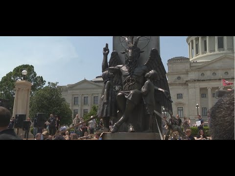 Satanic Temple Statue: An 8 Foot Tall Bophomet Statue Unveiled at the Arkansas State Capitol