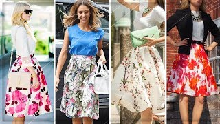 FLORAL DRESSES | OUTFIT IDEAS WITH FLORAL SKIRTS 2018