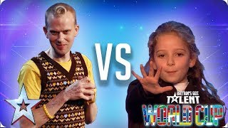 KNOCKOUT MATCH: Robert White vs Issy Simpson | Britain's Got Talent World Cup 2018 - Video Youtube