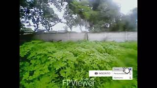 Drone costurando tudo vôo fpv com óculos vr box