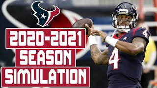 Houston Texans 2020-2021 Season Simulation (Madden With Updated Rosters)