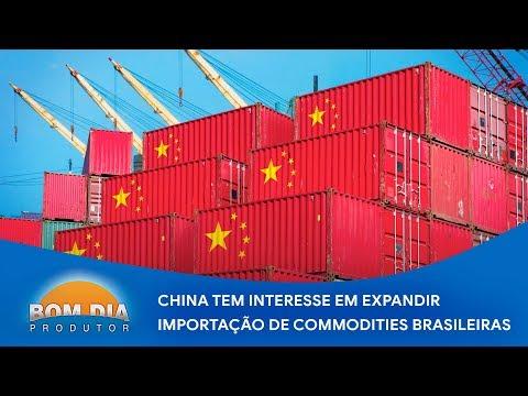 China quer expandir importação das commodities brasileiras