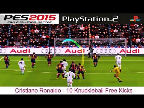 Cristiano Ronaldo - 10 Knuckleball Free Kicks - PES 2015 - PS2