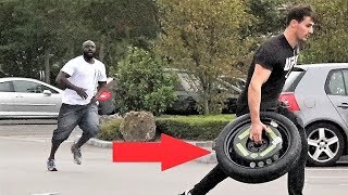 Stealing Car Tires Prank