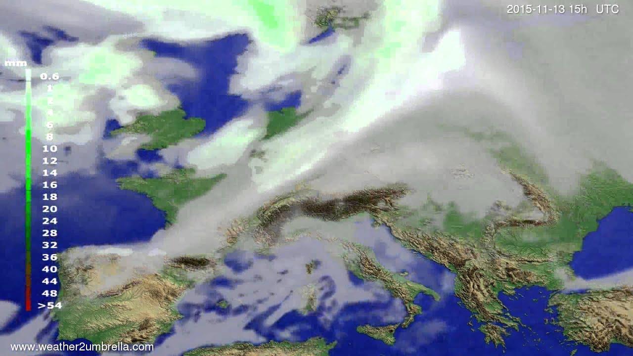 Precipitation forecast Europe 2015-11-11