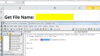 Excel VBA Basics #28 Get the Name or File Path, Open File Browser in VBA