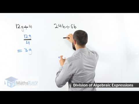 Division of algebraic expression