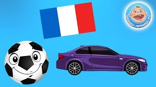 Мультик про машинки - Учим флаги - Развивающий мультфильм для детей