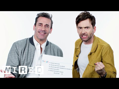 Jon Hamm & David Tennant Answer the Web's Most Searched Questions | WIRED