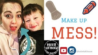 Three Year Old Brother Does My Make Up! | Hattie Lofthouse