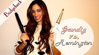 Perfekte Locken mit Lockenstaab machen / Hollywood Curls - Vergleich: Remington vs Grundig