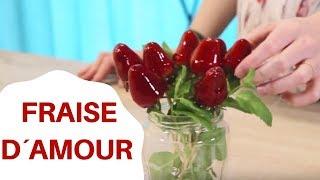 Bouquet de fraises d'amour | Recette romantique