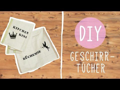 DIY mit Nina: Bedruckte Geschirrtücher