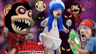 DON'T STOP RUNNING!! Scary Monkey Game! 🙈 (FGTEEV plays Dark Deception #1)
