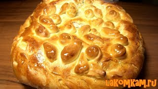 Рыбный пирог с украшением из теста или Как украсить выпечку? Красивый и вкусный рецепт за 90 рублей