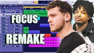 How Bazzi   Focus (feat. 21 Savage) Was Made Instrumental Remake (Production Tutorial)
