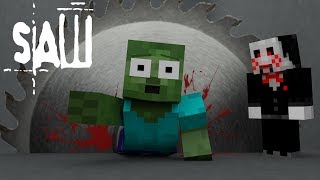 Monster School : SAW HORROR GAME CHALLENGE - Minecraft Animation