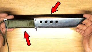 Survival knife fiberglass sheath