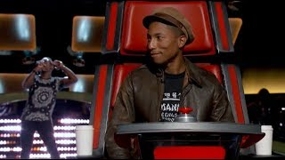 """The Voice Blind Audition   Brian Nhira: """"Happy"""""""