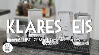 Klares Eis für Cocktails selbst herstellen / zuhause machen - Bar Basics