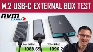 M.2 NVMe USB-C External Box TEST - for SSD - AXAGON EEM2-UG2, ICY BOX IB-1817M-C31 & i-tec MySafe
