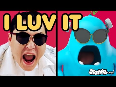 Funny Animated Cartoon | Spookiz x PSY I Luv It Music Video Parody | Videos For Kids Videos For Kids видео