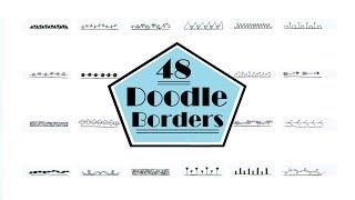 48 DOODLE BORDERS | ZENTANGLE | SOLLOMIO