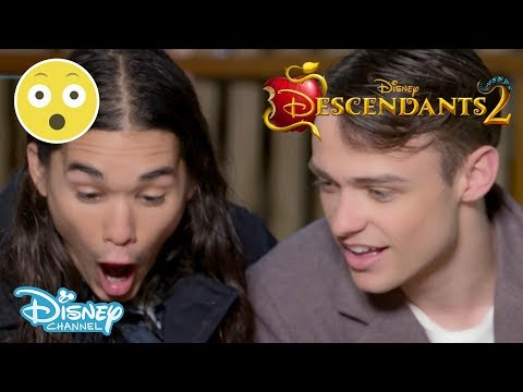 Descendants 2 | Spider Challenge ft. Thomas Doherty & Booboo Stewart 🕷 | Disney Channel UK
