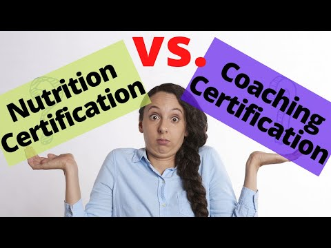 Nutrition Certification or Health Coach Certification? [WATCH THIS First!]