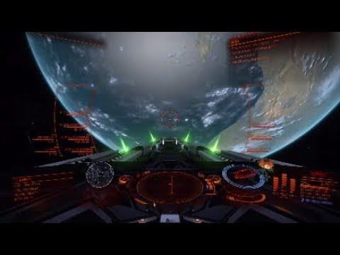 Anaconda vs Corvette in Elite Dangerous - смотреть онлайн на