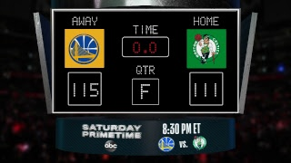 Stay up to date with the Warriors @ Celtics LIVE scoreboard and catch all the action on #NBAonABC!
