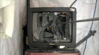 Smash The Memorex CRT TV