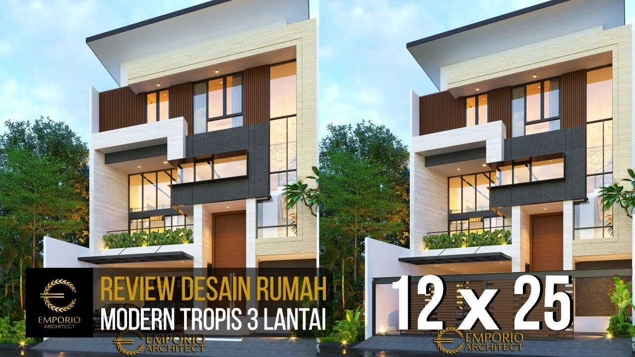 Video 3D Desain Rumah Modern 3 Lantai Bapak Leonardy di Jakarta Utara