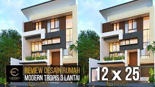 Video Desain Rumah Modern 3 Lantai Bapak Leonardy di  Jakarta Utara