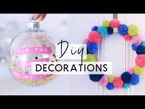 DIY Christmas Decoations 🎄 ❄️ Bright & Colourful Christmas Room Decor DIYs