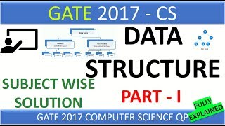 Data Structure | GATE 2017 - Subject Wise Complete Solution - Part I