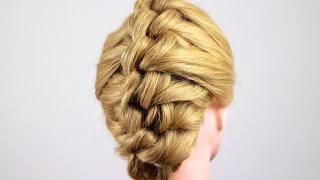 Смотреть онлайн Как плести узелковую косу: обучение