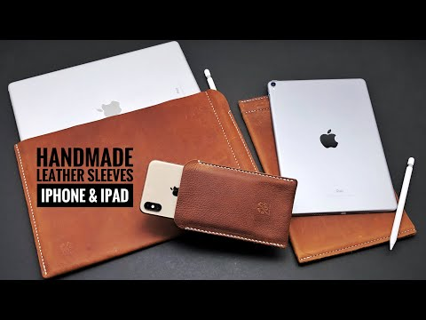 Handmade Leather iPad and iPhone Sleeves | ROG Handmade