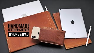 Handmade Leather IPad And IPhone Sleeves | ROG Handmade