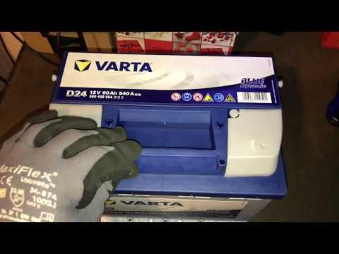 Varta 5604080543132 PKW Starterbatterie Varta D24 12V 60 Ah unboxing und Anleitung