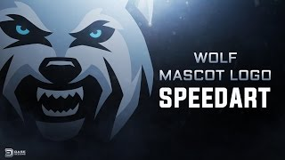 Wolf Mascot Logo | Sports Logo Speedart