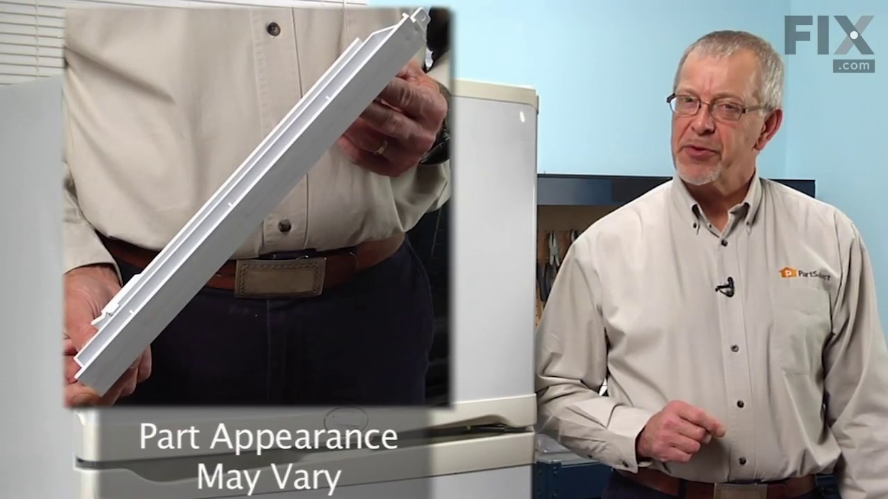 Replacing your Whirlpool Refrigerator Crisper Drawer Rail