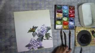 水墨画sumi-eアジサイの描き方動画