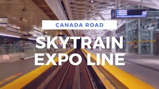 【4K】 Skytrain - Expo Line (From King George Station To Waterfront Station)