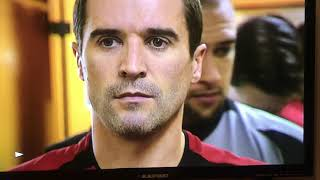Roy Keane walks out the team before the Referee allows him