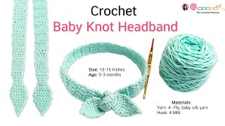 How To Crochet Baby Knot Headband Easily!